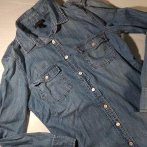 JCrew denim long sleeved shirt sz 2